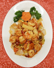 Image de Crevettes à la sauce épicée