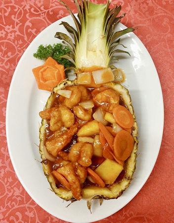 Image de Crevettes à l'ananas frais